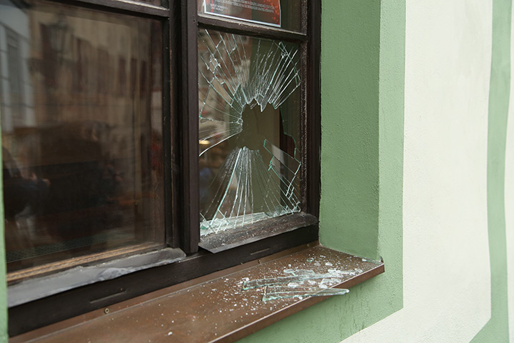 A2B Glass are able to board up broken windows while they are being repaired in Kettering.
